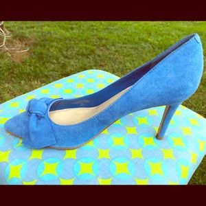 Marc Fisher New Baby Blue Suede Pumps w/Bow